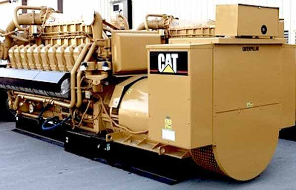 2055kW Caterpillar G3520C 4160V Natural Gas Generator