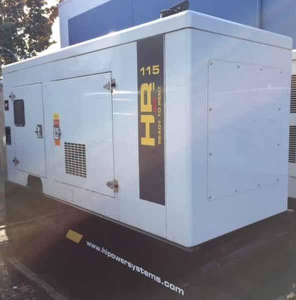 100kW Hipower HRJW115T6 480V Diesel Generator
