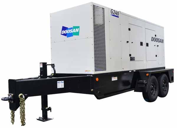 190kW Doosan G240 480V Tier 4 Final Diesel Generator