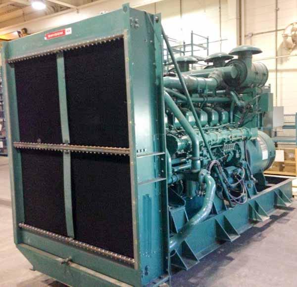 1000kW Mitsubishi S12 600V Diesel Generator