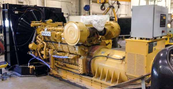 850kW Caterpillar 3512 600V Diesel Generator